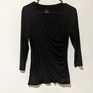 Grace black blouse small rayon and spandex
